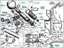 Cylindres de suspension avant