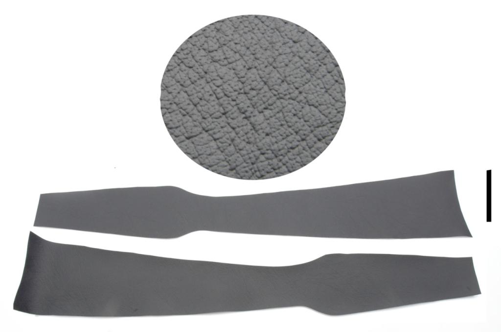 Garniture inf. pied milieu: plastique noir.