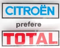 Autocollant: Citroen prefere Total.